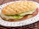 Рецепта Сандвич с филе, айсберг и сирене Крема